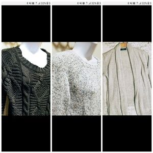 Sweaters - 3for1 Cute Cable Knit Sweaters